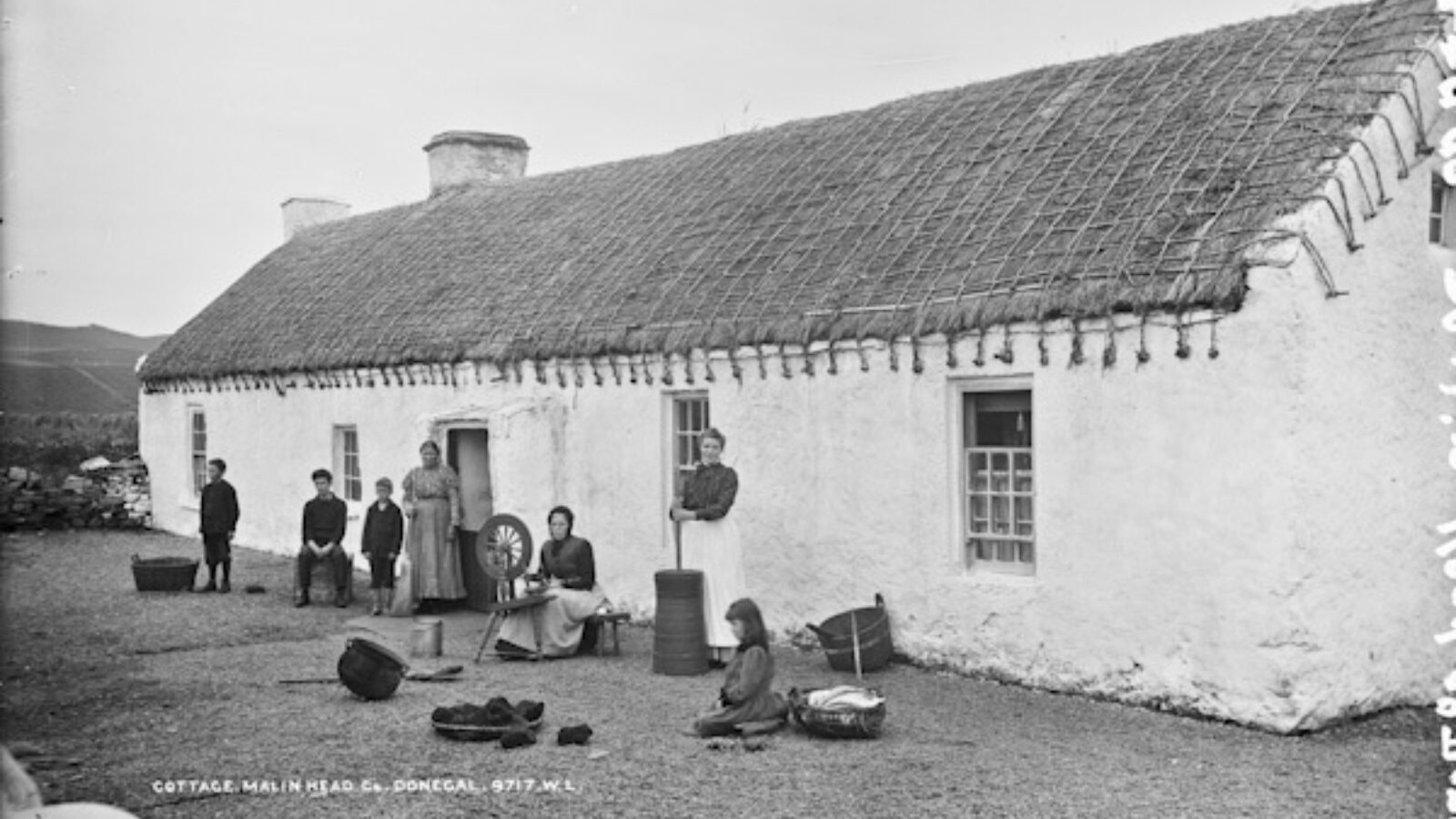 Donegal cottage old photo